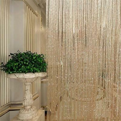 95*200cm Glitter Fringe String Tassel Panel Curtain Room Divider Door Hanging MN
