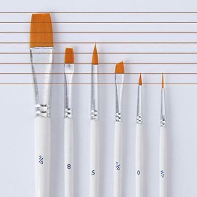 6Pcs Nice Acrylic Oil Watercolor Brushes Set Artist Paint Painting Brush MN