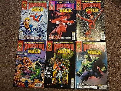 6 X Marvel Collectors Edition Comics Daredevil And The Incredible Hulk
