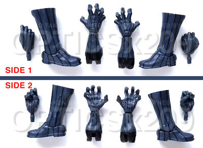 Marvel Legends Accessories FODDER- Walmart Black Panther HANDS & FEET/BOOTS ONLY