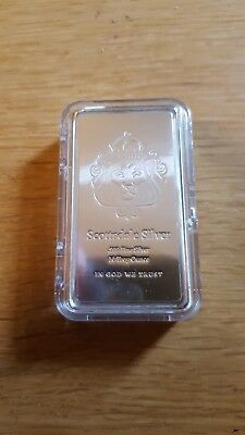 10 oz Scottsdale stacker pure silver bar with stackeable airtite case.