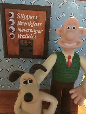 Wallace & Gromit Talking Alarm Clock Rare Works Great
