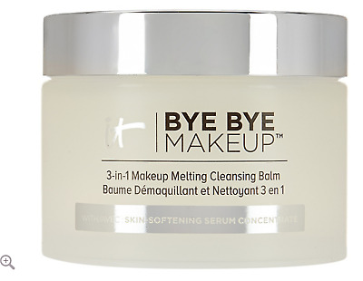 New! IT COSMETICS Bye Bye Makeup 3 in 1 Melting Cleansing Balm, .99 oz NWOB