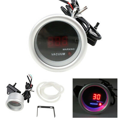 2'' 52mm Universal Auto Car Red Digital LED Electronic Vacuum Gauge Meter