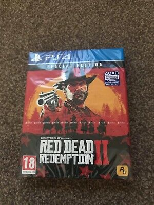 Red Dead Redemption 2 Special Edition for PS4, brand new factory sealed.