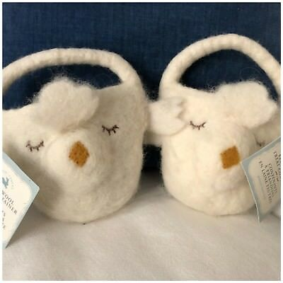 NWT Pottery Barn Kids S/2 ~FELTED WOOL LAMB~ TREAT Containers ~EASTER~ Chick 🐥