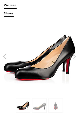 5f7b61c6cea NEW CHRISTIAN LOUBOUTIN Me Pam 85 mm Black Patent Leather T-Strap ...