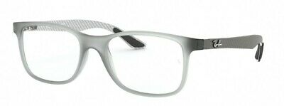 cbd070541e NEW RAY-BAN RX 8903 5244 Matte Transparent Grey Plastic Square ...