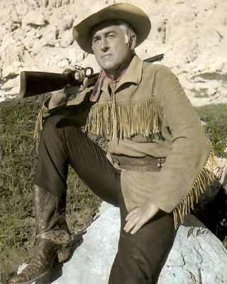"""Stewart Granger Rampage At Apache Wells 1965 Actor 8X10"""" Hand Color Tinted Photo"""