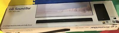 LG SK8Y Sound Bar with Wireless Subwoofer 2.1 Channel Dolby Atoms w/Remote