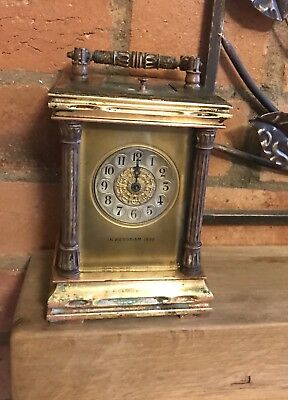 Brass Masked Dial Repeating Carriage Clock C1899
