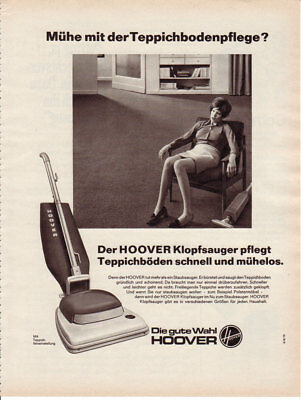 1971 HOOVER Vacuum Cleaners Woman Tired Germany 1 Page Vintage Print Ad