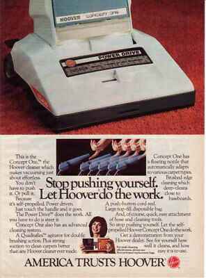 1978 HOOVER Vacuum Cleaners Power Drive 1 Page Vintage Print Ad
