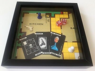 Cluedo Game Frame - Handmade Retro Art