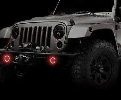 Halo Lights For Jeep Wrangler >> Oracle Lighting 1177 003 Red Retrofit Halo Kit For Jeep
