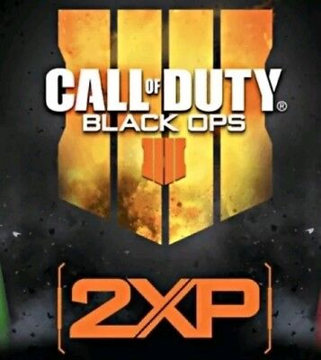 CALL OF DUTY BLACK OPS 4 DOUBLE XP  2 hours ALL PLATFORMS