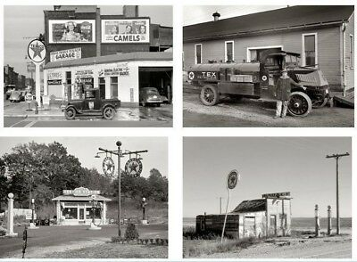 HUGE Texaco Gas Station Photos 4 PHOTO LOT,1925 1937 1940 MI, North Dakota,DC
