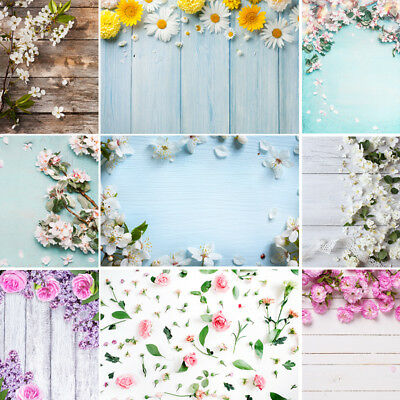 Flower Printed Photo Studio Booth Backdrop Wedding Party Photography Background