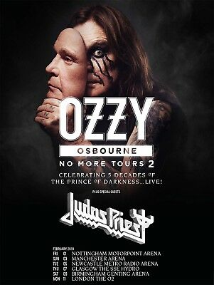 Ozzy Osbourne Unreserved Standing ticket to O2 Arena on 11th Feb 2019