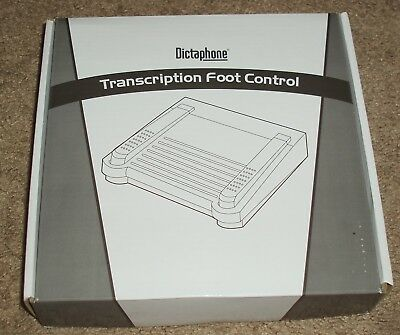 New NIB Dictaphone Transcription Foot Control Pedal 0502765 RJ11 Plug DI-148519