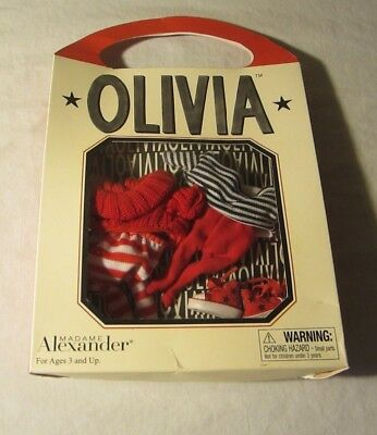 NIB Madame Alexander Olivia Pig Out & About Outfits 2 Top & Bottom Sets Sneakers