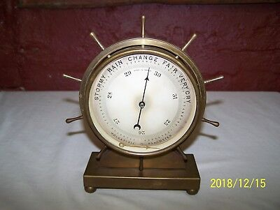 Antique Nphb Holosteric Barometer - Ship's Wheel Style - 19Th Century - France