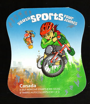 CANADA BOOKLET: YOUTH SPORTS, BK312b, UC#2121a-d, 2005, 50c, 8 STAMPS