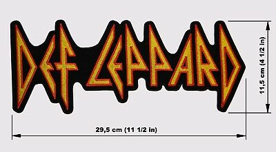 DEF LEPPARD logo BACK PATCH embroidered NEW NWOBHM heavy metal hard rock