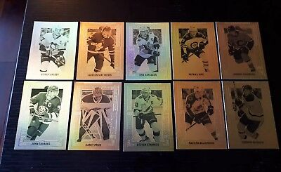 New 2018-19 Upper Deck Tim Hortons Gold Etchings Complete Set Of 10 Sp Rare