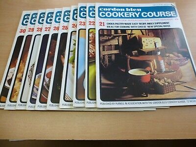 CORDON BLEU COOKERY COURSE 21-30 SECOND EDITION 1970's SOUFFLES CHOUX WHISKED