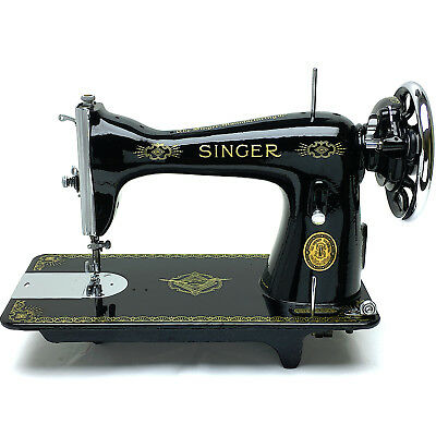 SINGER 15 15K Vintage Sewing Machine Heavy Duty Restored & Serviced by 3FTERS