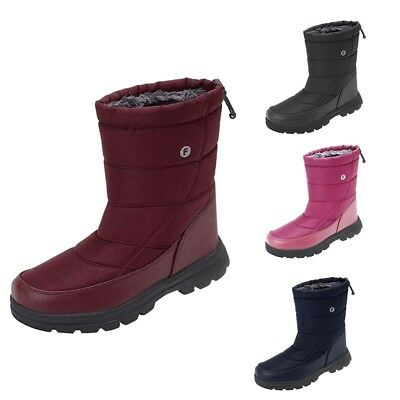 Men Women High Top Snow Boots Drawstring Winter Cold Weather Boot Outdoor Warm