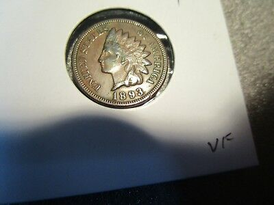 1893 Indian Head Cent -VF