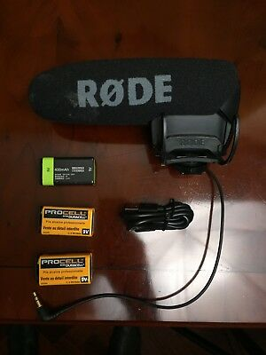 Rode VideoMic Pro R Rycote Shotgun Microphone in Very Good Condition + Batteries