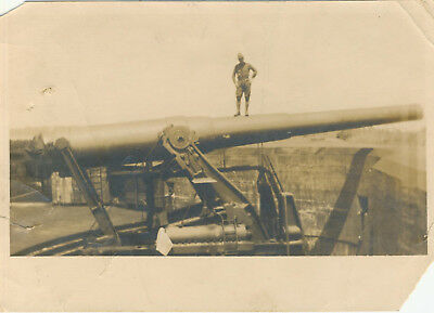 Photo of a Coast Artillery 12 inch Disappearing Gun at Fort Wadsworth NY 1922