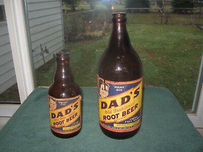 Dad's  Root Beer  Mama  And Junior  Size   Paper Label