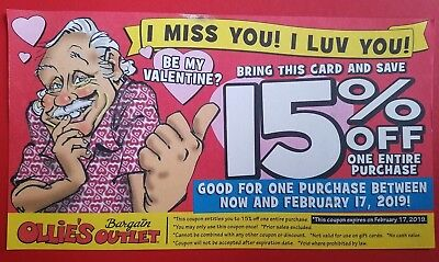 Ollie S Bargain Outlet Coupon 15 Off Entire Purchase