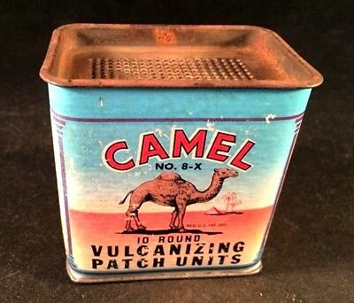 Vintage CAMEL VULCANIZING TIRE TUBE PATCH UNITS KIT Rare Old Advertising Gas Oil