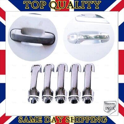 Ford Transit Connect Tourneo 2002-2014 Chrome Door Handle Cover 5 door S.STEEL