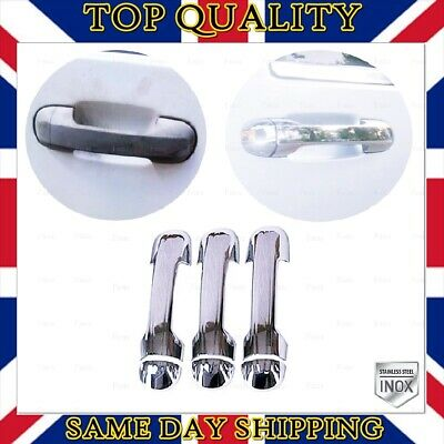 Ford Transit Connect Tourneo 2002-2014 Chrome Door Handle Cover 3 door S.STEEL