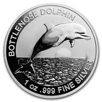2019 Australia Bottlenose Dolphin 1 Ounce .999 Silver Coin From Mint Packaging