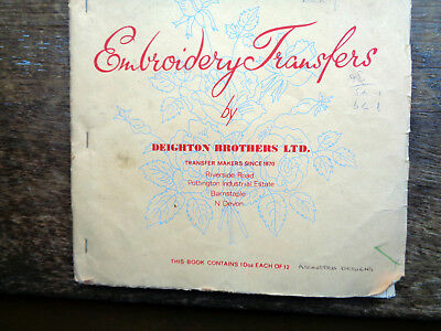 Vintage Deightons book of Embroidery Transfers 101 Transfers each 25 cm square