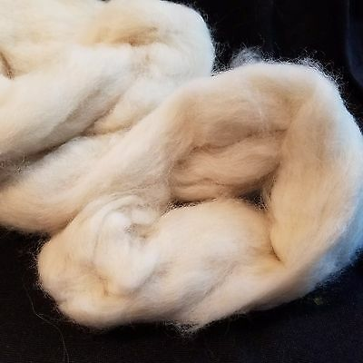 CRAZY Combed Mink Fur 100% Roving Natural Off White combed top very soft 1.3""