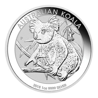 The Perth Mint 1 OZ Silber Silver Münze 2018 Australian Koala 1 Unze