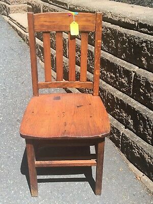 Mission Style oak chair