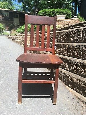 Mission Style oak dining chair