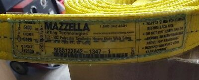 Mazzella EE2-902 Polyester Synthetic Heavy Duty Web Sling With Twist Eyes #4,...