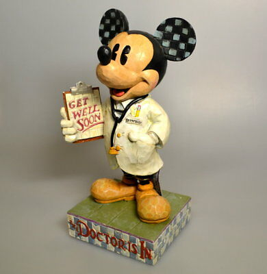 Micky Maus Sammel Figur Mickey Mouse -the Doctor is in- Showcase Collection 22cm