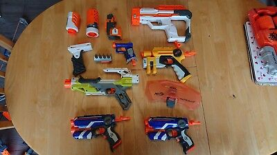 Nerf bundle - Full working Order with dart cartridges and Modulus accessories