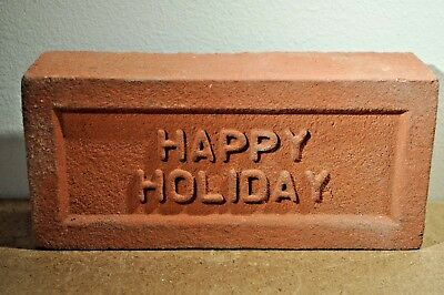 """Antique Brick   """"happy Holiday""""    Made By Glen Gery"""